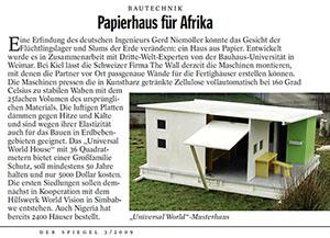 """Clipping Papierhaus im """"Spiegel"""""""